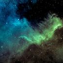 Cygnus wall of the North America Nebula in narrowband,                                Mike