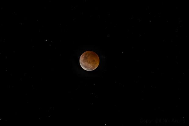 Lunar supermoon Eclipse 2021,                                Nick Axaris