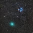 M45 Pleiades + Comet 46P Wirtanen,                                Gernot_Obertaxer