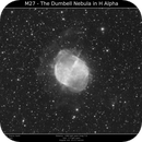 M27 - The Dumbell Nebula Ha,                                Brice Blanc