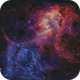 Sh2-132 Lion Nebula Bi-color,                                John Travis