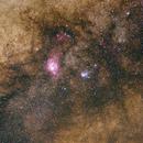 Lagoon and Triffid nebulas on 135mm,                                Samuel Müller