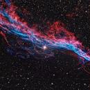 The Veil Nebula,                                Darkestskiesdotcom