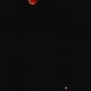 Eclipsed moon and mars in between stars,                                Sven Hoffmann