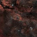 Gamma Cygni Nebula and NGC6888 Crescent Nebula in Narrowband Hubble Palette,                                Ola Skarpen SkyEyE