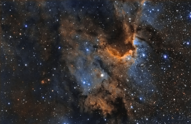 SH2-155 The Cave Nebula,                                Salvatore Iovene