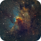 Cave Nebula in SHO,                                Andrew Barton