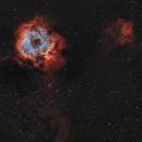 Quick Rosette Narrowband BiColour HOO,                                Astrobdlbug