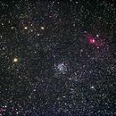 M52 & the Bubble Nebula, NGC7635,                                John O'Neal, NC Stargazer