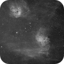 Flaming Star and Tadpole -- IC 405 and IC 410,                                ks_observer