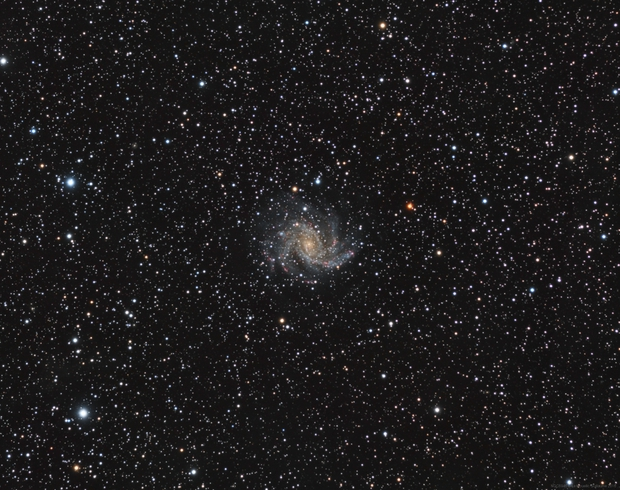 NGC6946 LRGB with Ha,                                Le Mouellic Guill...