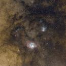 M8 and M20 widefield,                                Jari Saukkonen