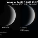 Venus on 2020-04-27 (Near-UV and IR),                                JDJ