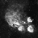 Cat's Paw Nebula (NGC 6334) H-Alpha Data,                                William Tan