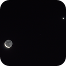 Moon and Venus, 2015-09-10,                                evan9162