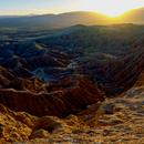 Fonts Point Sunset 2 panel Mosaic - Anza Borrego Desert State Park,                                Jim Matzger