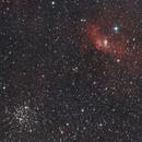 Ngc 7635 and M52,                                Vlaams59