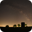 Summer Planets and Milky Way,                                JDJ
