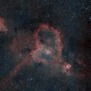 Heart & Soul nebulae - IC1805 & IC1848, DSLR 135mm HaRGB,                                Euripides