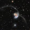NGC 4038 and 4039 Antennae Galaxies in Corvus,                                Mark Wetzel