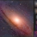 M31 - Andromeda galaxy (Ha-R)GB,                                László Szeri