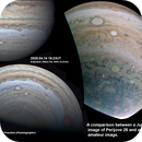 A Juno Perijove 26 image compared to my image acquired 40 hours later,                                Niall MacNeill