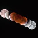 Chronophoto of the Total Lunar Eclipse - September 28, 2015,                                Sebastian Voltmer