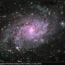 M33, Triangulum Pinwheel Galaxy, UHC-S (OSC), 11 Sep 2015,                                David Dearden