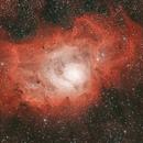 M8 - Lagoon Nebula,                                Blackstar60