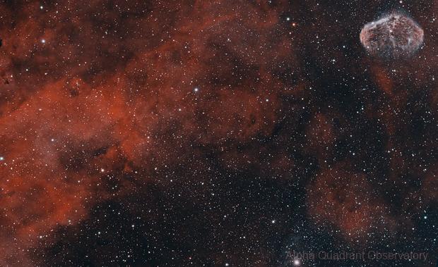 SH2-108 & Crescent Nebula,                                Chris