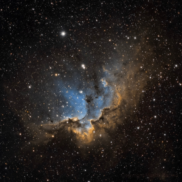 Wizard Nebula - NGC 7380 (SHO),                                Marco Rapino