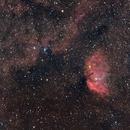 Tulip nebula sharpless SH2-101 C11@F2 560 mm HRGB normandy backyard,                                cv14