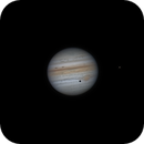 Jupiter GRS, Callisto and Io @26° alt. 7/29/2021 23:54 UTC,                                Falk Schiel