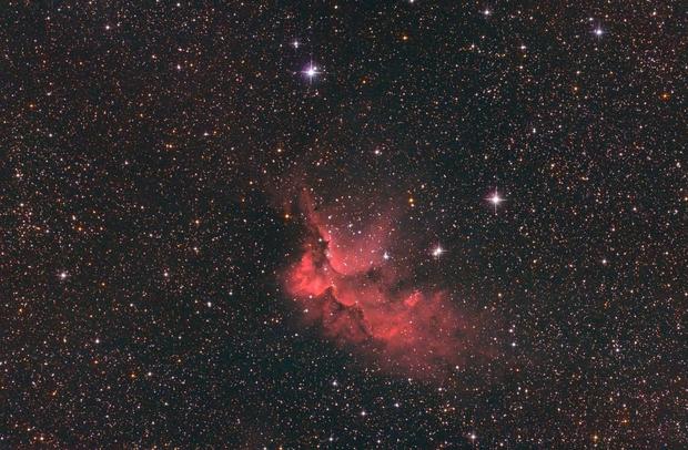 The Wizard Nebula - DSLR Ha mixed with RGB,                                Thomas Richter