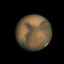 Mars at Opposition 2020: Celestron C5,                                Andrew Burwell
