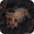IC 405 - Flaming Star Nebula in SHO,                                Prath Pavaskar