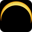 Annular Eclipse with sunspots,                                P-K