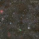 Comet 21P in Auriga Cluster and Nebulosities,                                Muhammad Rayhan