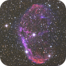 NGC6888 - the Crescent Nebula from south Corse in Ha+O3+LRGB,                                Gianni Cerrato