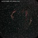 Veil Nebula Comparsion no Filter vs. L-eNhance,                                Fr3ita6