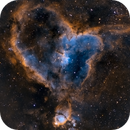 The Heart Nebula in SHO,                                Tommy Lease