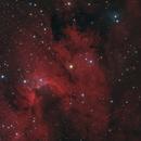 Cave Nebula (Sharpless 2-155) in Cepheus - Ha LRGB,                                Steve Milne