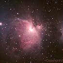 Messier 42 - Orion Nebula (combination Mod & unmod DSLR),                                William Tan