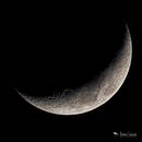 LRGB Waxing Crescent Moon,                                Damien Cannane
