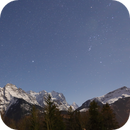 Orion and Mountain Wetterhorn by Moonlight,                                AstroEdy