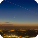 C/2020 F3 Neowise and the ISS (International Space Station) in the morning sky,                                Alessandro Carrozzi