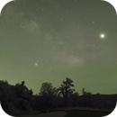 Milky Way over the Blue Ridge Mountains – Group 1- A Time Lapse Project,                                Van H. McComas