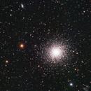 M13 and 2 galactic friends,                                Gauthier Vasseur