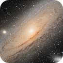 M31 The Andromeda Galaxy in Ha-LRGB - High resolution - Nova catched,                                Vincent F