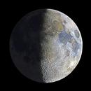 Sunshine/Earthshine HDR Moon (color),                                drivingcat